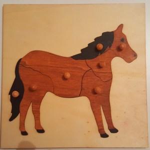 puzzle montessori cheval #zoologiemontessori #activitesmontessori