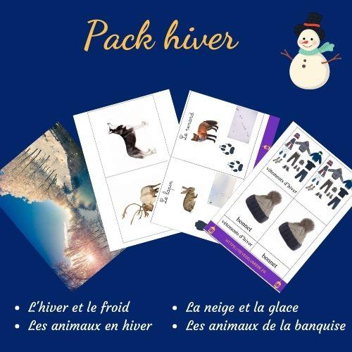 activités hiver montessori