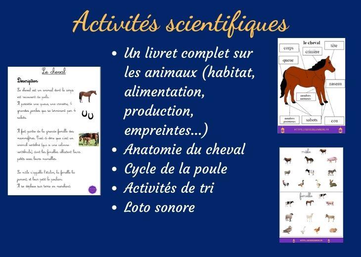 activités montessori scientifiques autour de la ferme #fermemontessori #activitesscientifiques