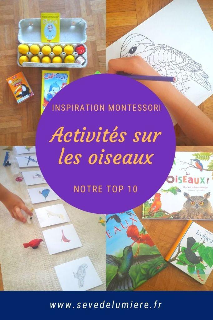 activités sur les oiseaux #inspirationmontessori #activitesenfants #activitesoiseaux
