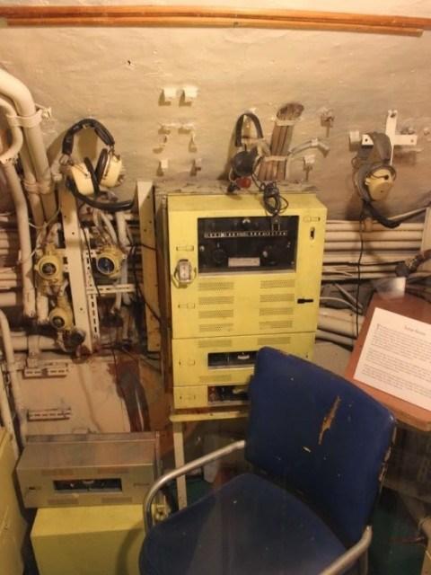 Морской музей Сан-Диего. Б-39. Рабочее место гидроакустиков