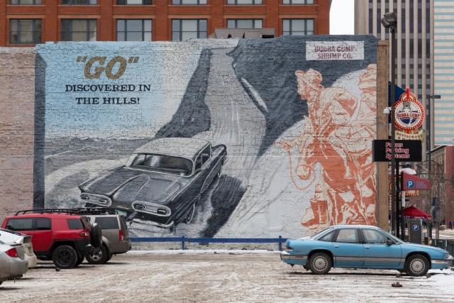Денвер. Картины на стенах зданий