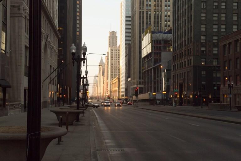 Чикаго. Ранее утро. Мичиган Авеню