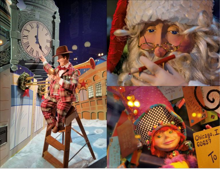Chicago Macy's Christmas. Чикаго Универмаг Мейсис Рождество