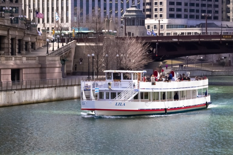 Чикаго Иллинойс Река Чикаго