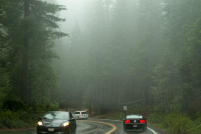 Йосемити парк во время ливня