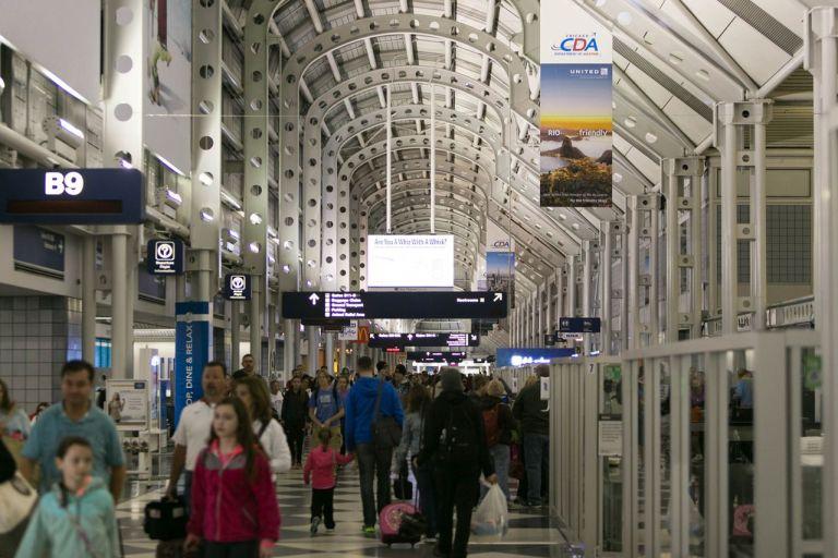Джетлаг. Аэропорт Чикаго