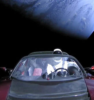 Taking a Tesla Roadster for a Spin in Space