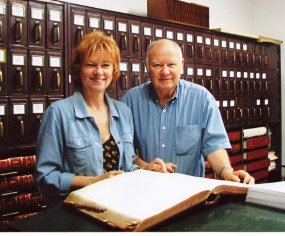 Catherine and brother Gordon, research in Sanders, Montana 2006