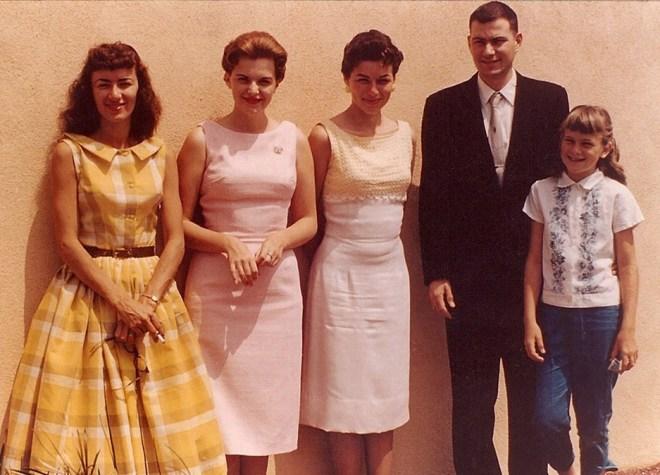 Clemens siblings Carleen Claudia Liz Betty Gordon Larry  Cathy April 1959 La Habra