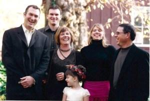 Matt, Jon, Rebecca, Becky, Dennis, Lesley in front