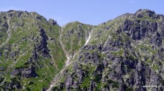 Przebieg szlaku od przełęczy Krzyżne
