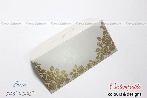 White floral design money envelopes for wedding gift