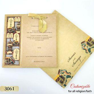 Indian elephant theme laser cut invitations