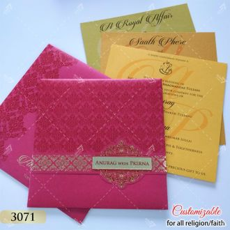 magenta pink indian style card