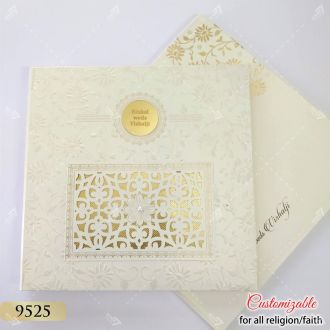hardcover traditional lasercut indian style card