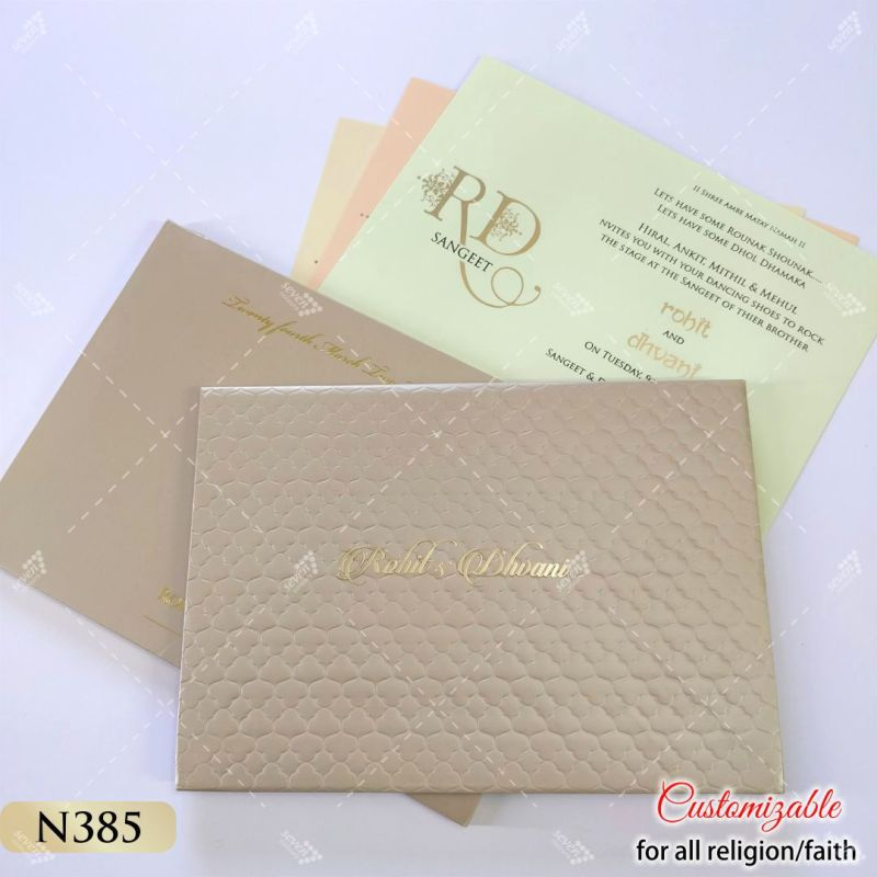 punjabi canada wedding designer card
