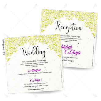 eco friendly seed paper wedding reception invitation