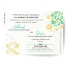 Basil Seed Paper Wedding Card Invitations in simple elegant design