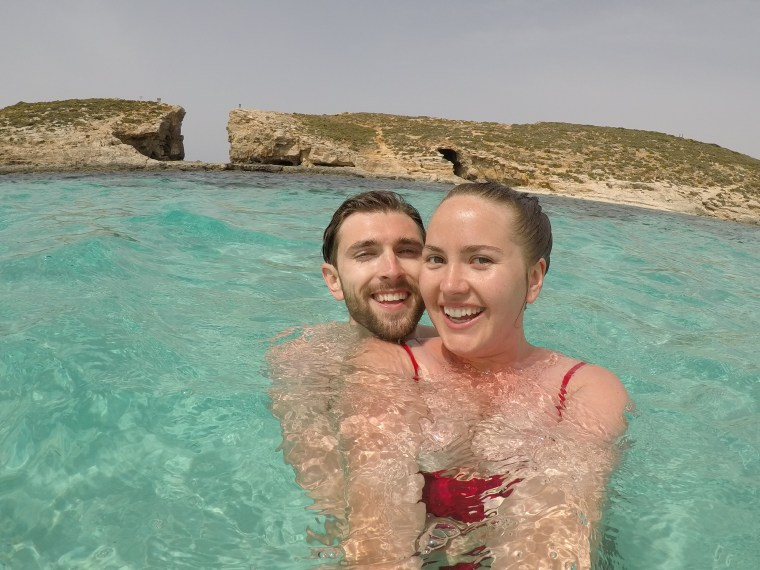 The Ultimate Travel Guide to Exploring the Beautiful Blue Lagoon on Comino Island, Malta. One of Europe's most scenic destinations: https://sevencontinentssasha.com/?p=3219&preview=true