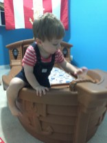 """""""Still love climbing in and out of the 'Christopher' compartment AKA built in toy box..."""""""