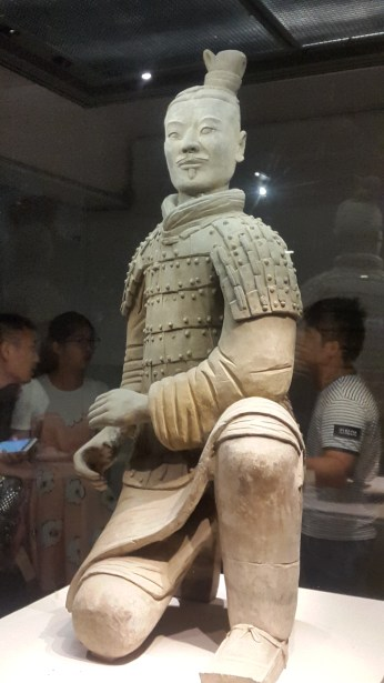 One of the only excavated warriors from Pit 2