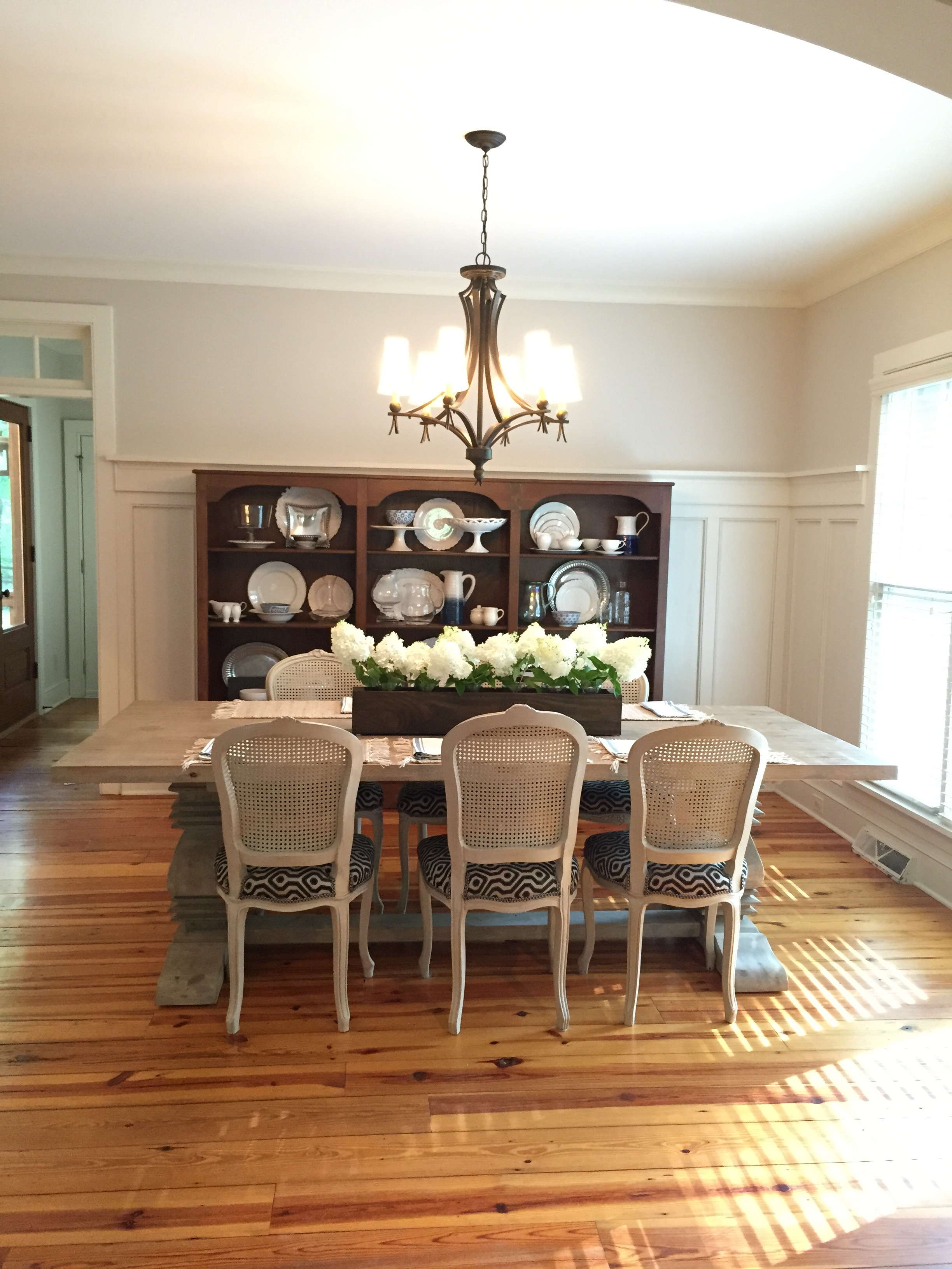 Dining Room Before & After Reclaimed Wood Table SevenLayerCharlotte