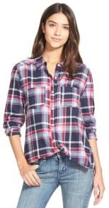 navy plaid shirt
