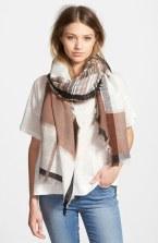 gauzy plaid scarf