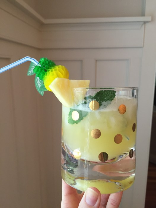 pineapple party straw; lemonade recipe; meyer lemons
