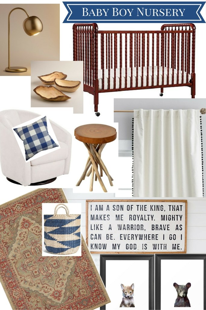baby boy nursery ideas; rustic, natural space