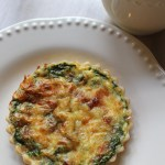 Individual Bacon, Spinach and Mozzarella Quiche Recipe