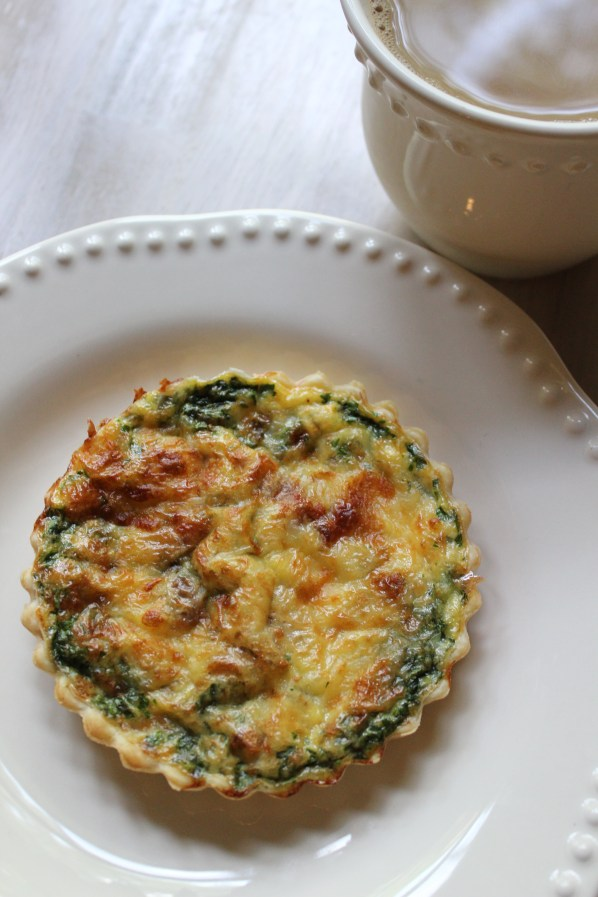 Quiche with Bacon, Spinach, Mozzarella Recipe