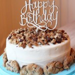 Chocolate Chip Cookie Chocolate Birthday Cake
