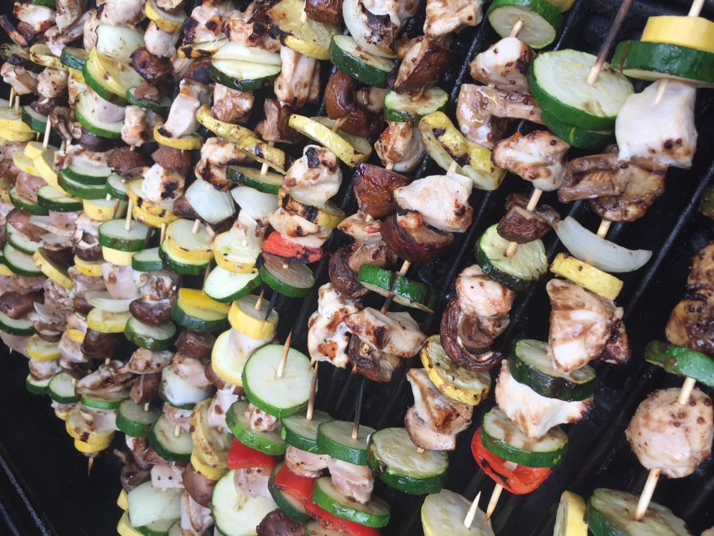 whole 30 chicken and vegetable kabobs