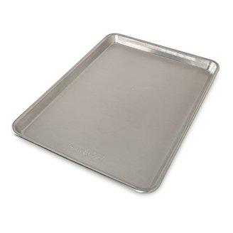 rimmed baking sheet pan; sheet pan garlic parmesan shrimp and veggies