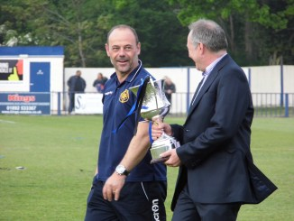 Micky Collins was delighted with the cup win