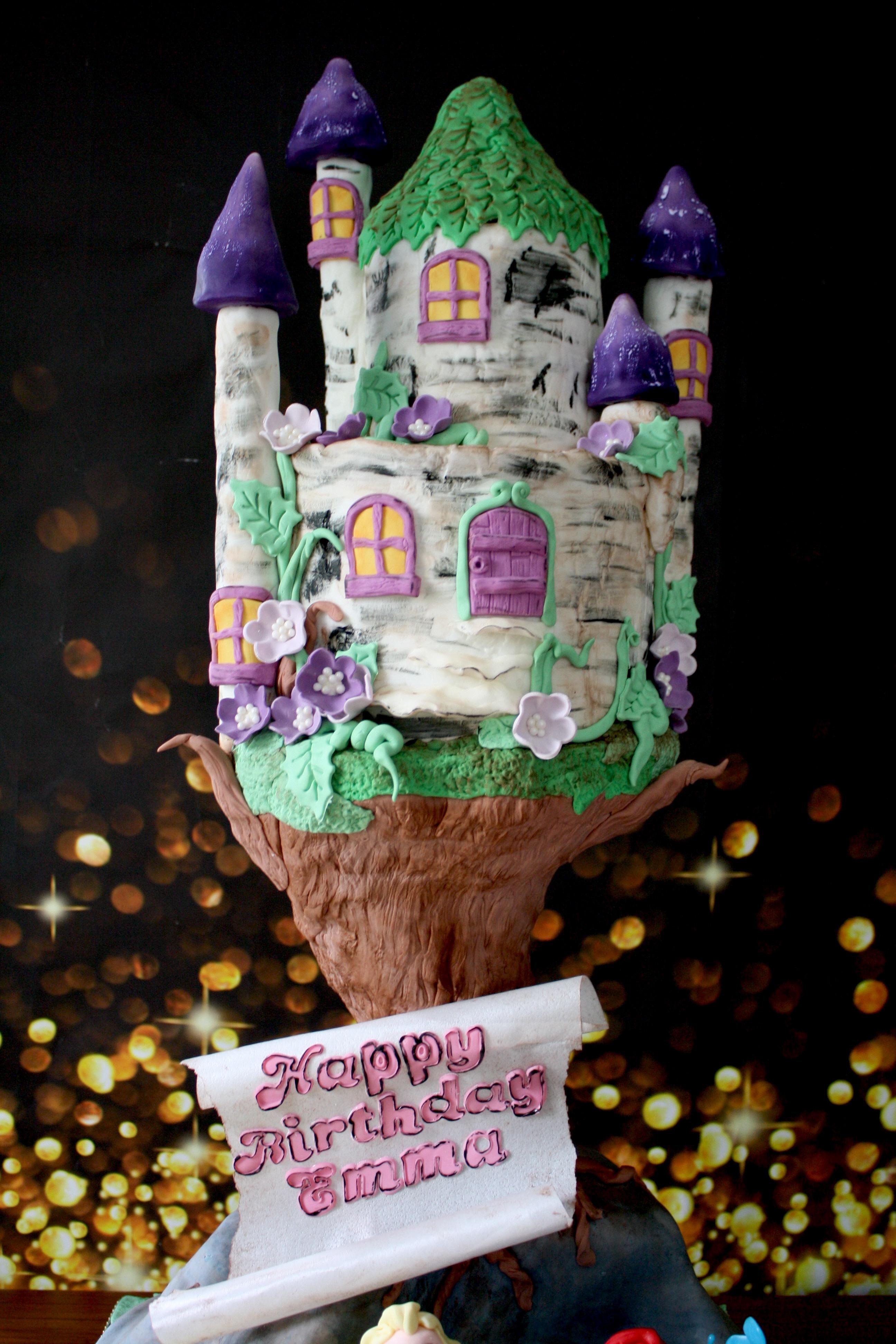 Disney Princess Treehouse Castle Cake