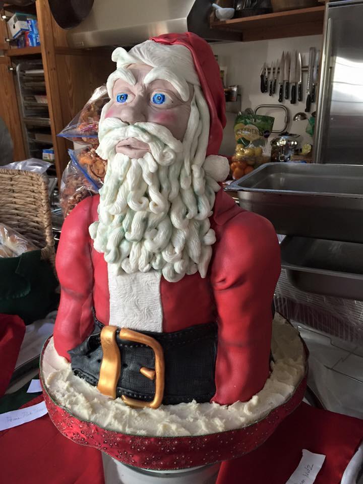 Santa Bust Cake