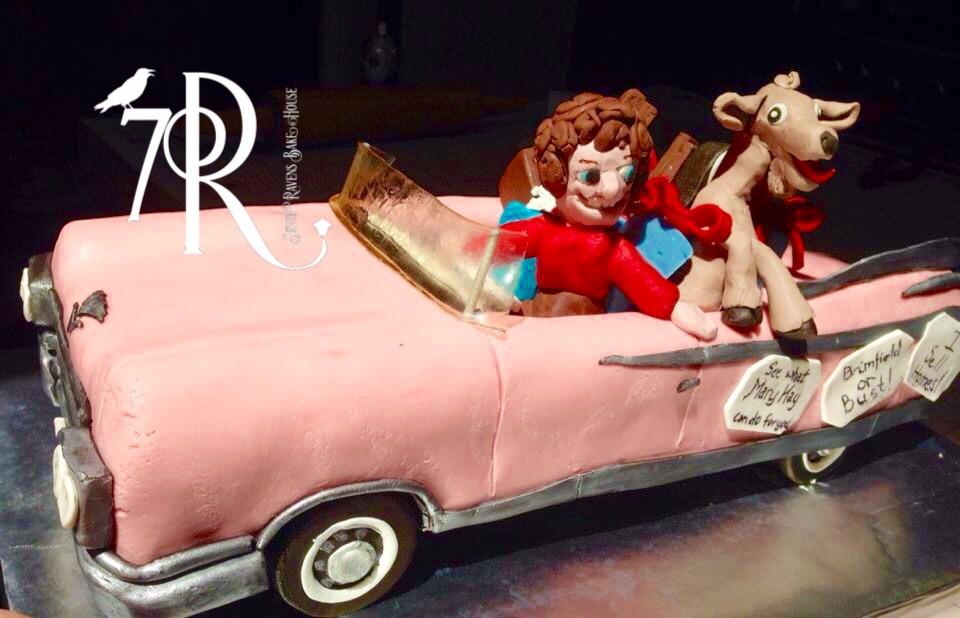 Pink Cadillac Character Cake