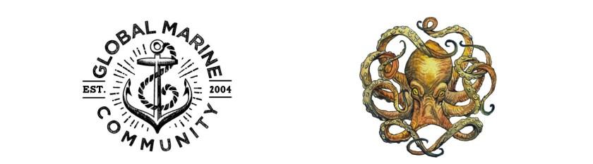 Global Marine Community logo and SEVENSEAS Media logo for Marine Conservation Jobs list