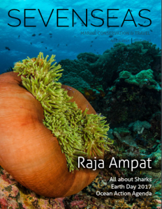 raja ampat pete oxford april sevenseas media issue cover marine conservation and travel