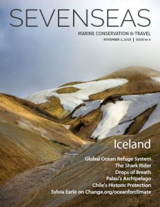 iceland november 2015 sevenseas media issue cover marine conservation and travel