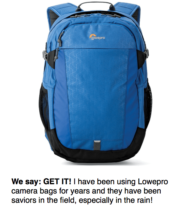 blue lowepro camera bag reviewed by sevenseas media