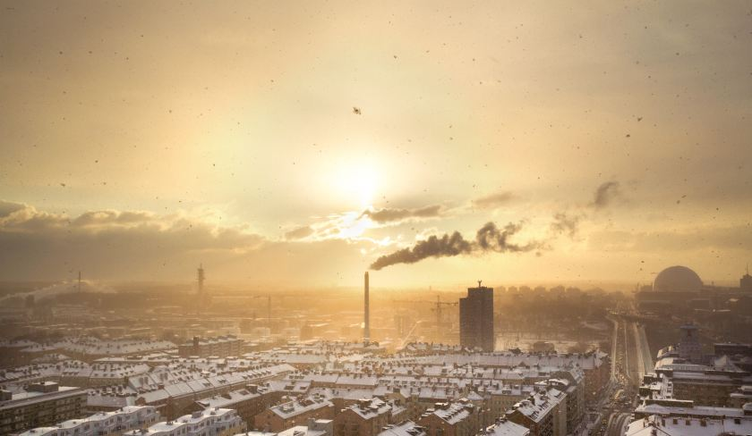 industrial factory pollution in sweden