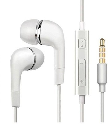 VMTech YR Handsfree Dolby Atmos Sound with High Bass Wired Headset(White, In the Ear)