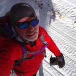 Winter Trail Running on a ski resort access road
