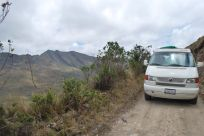 Driving to Paramo Siscuni