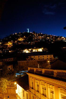 El Panecillo at night, Quito
