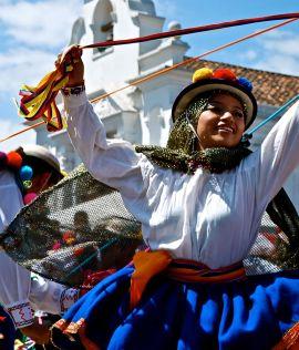 Dancing, Sangolquí, near Quito.